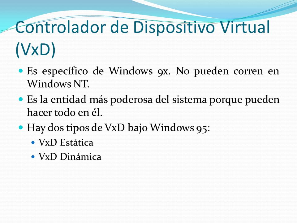 Controlador de Dispositivo Virtual (VxD)