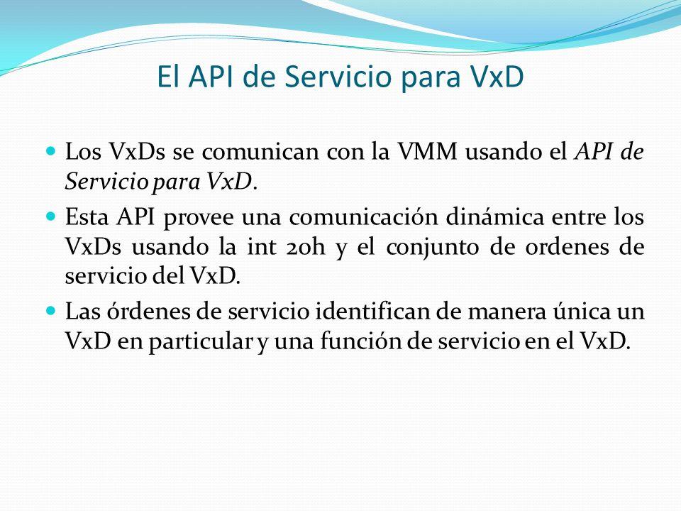 El API de Servicio para VxD