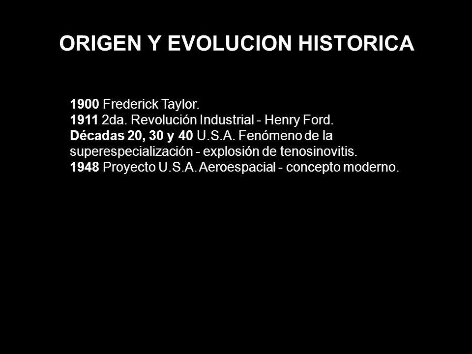 ORIGEN Y EVOLUCION HISTORICA
