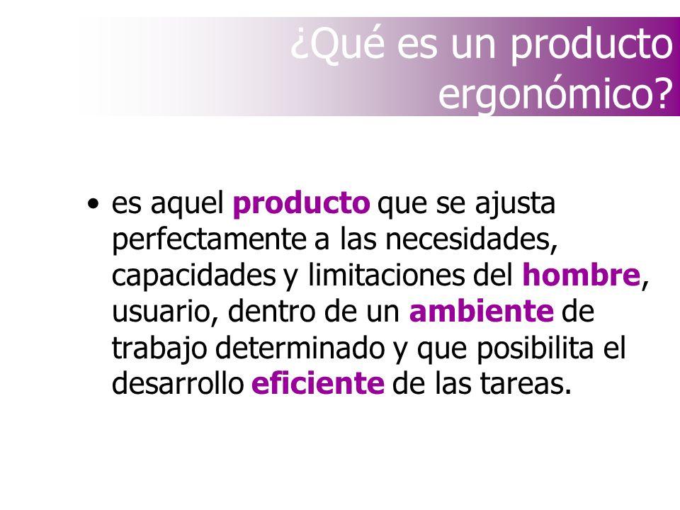 ¿Qué es un producto ergonómico