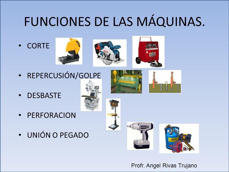 FUNCIONES DE LAS MÁQUINAS.