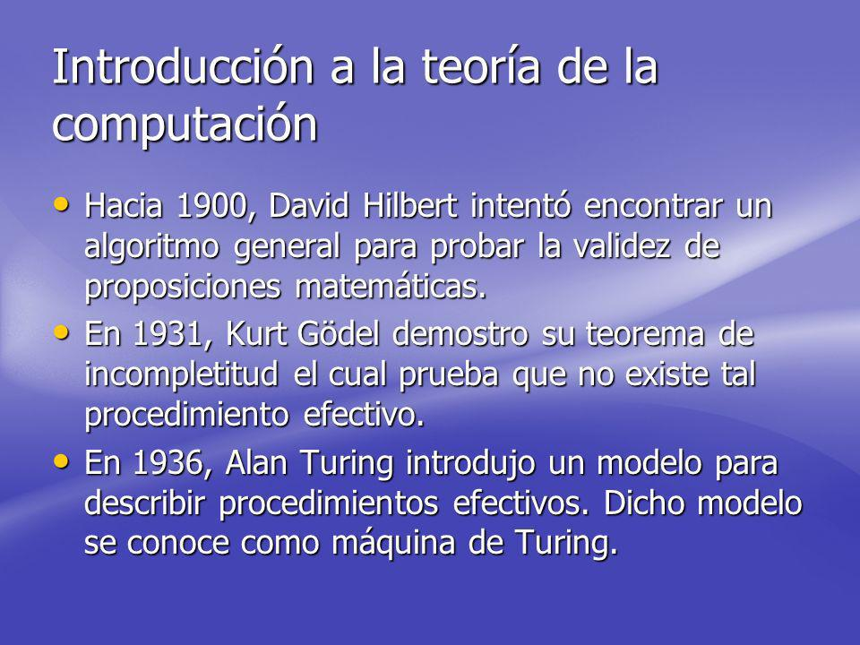 Introducción a la teoría de la computación