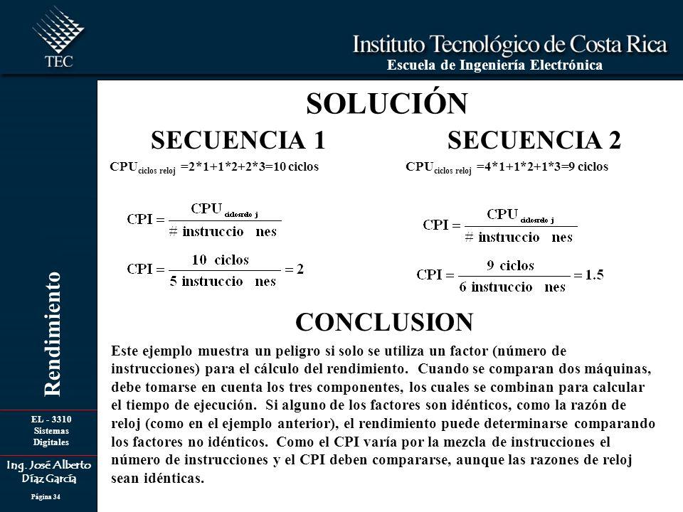 SOLUCIÓN SECUENCIA 1 SECUENCIA 2 CONCLUSION