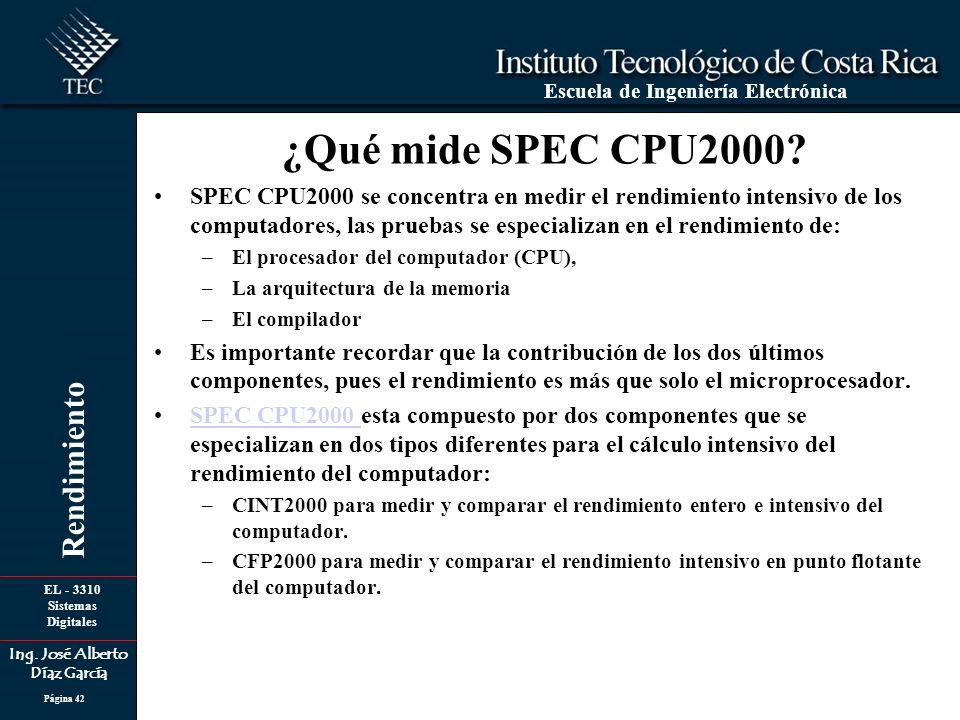 ¿Qué mide SPEC CPU2000