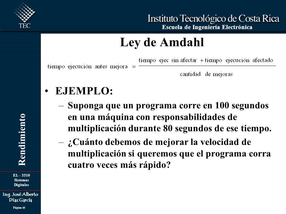 Ley de Amdahl EJEMPLO: