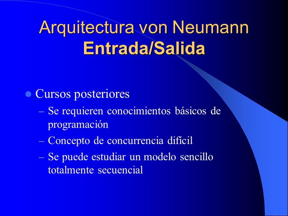 Arquitectura von Neumann Entrada/Salida