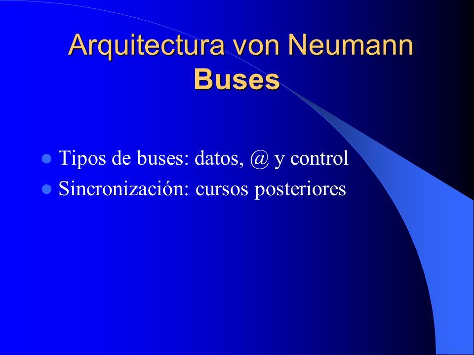 Arquitectura von Neumann Buses