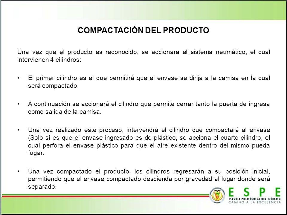 COMPACTACIÓN DEL PRODUCTO