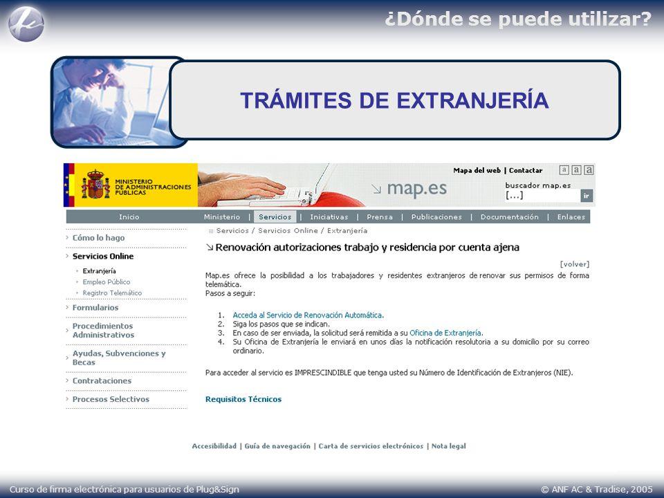 TRÁMITES DE EXTRANJERÍA
