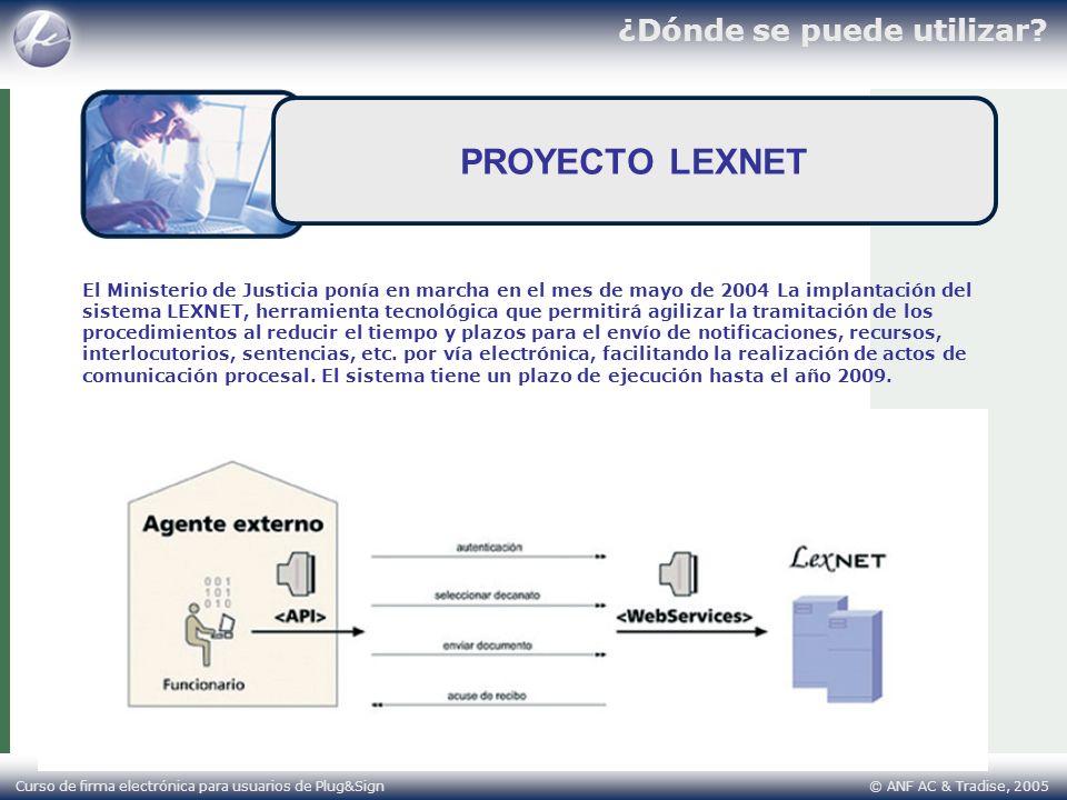 PROYECTO LEXNET ¿Dónde se puede utilizar