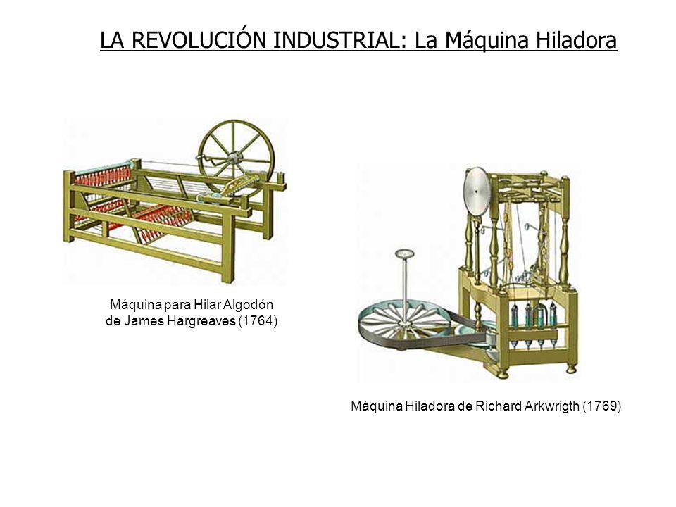 Máquina para Hilar Algodón de James Hargreaves (1764)