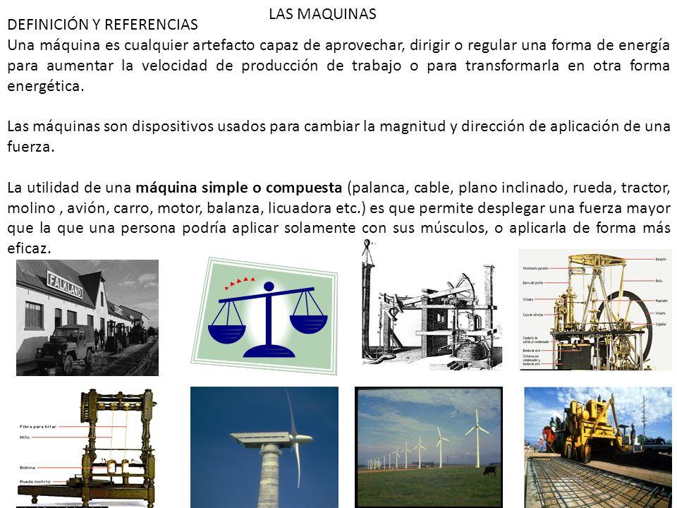 LAS MAQUINAS DEFINICIÓN Y REFERENCIAS