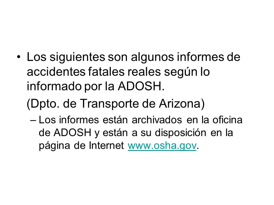 (Dpto. de Transporte de Arizona)