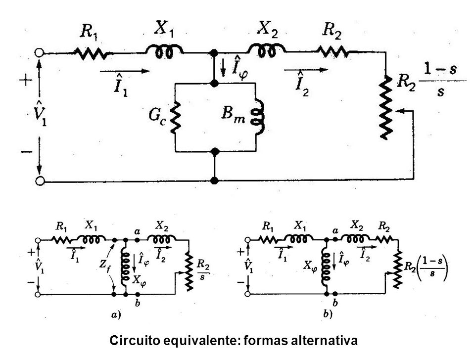 Circuito equivalente: formas alternativa
