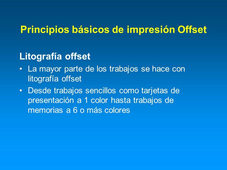 Principios básicos de impresión Offset