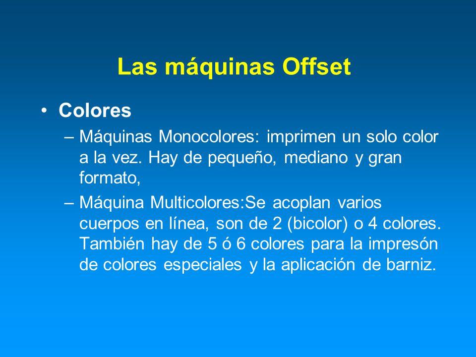 Las máquinas Offset Colores