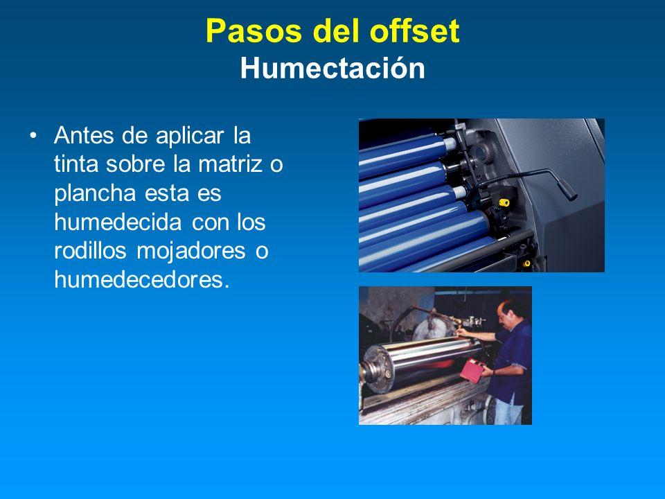 Pasos del offset Humectación