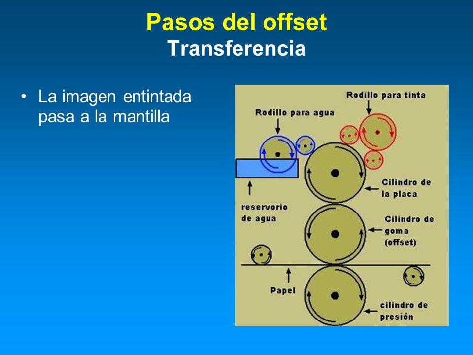 Pasos del offset Transferencia