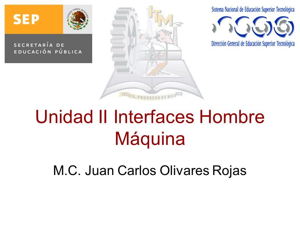 Unidad II Interfaces Hombre Máquina