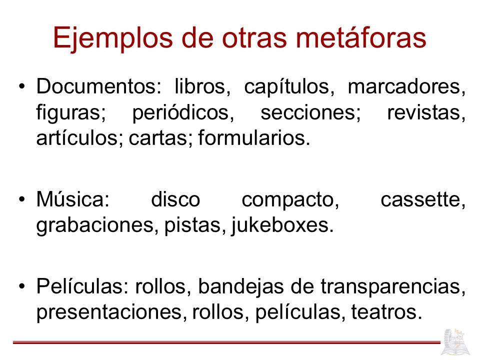 Ejemplos de otras metáforas