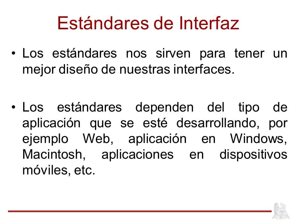 Estándares de Interfaz