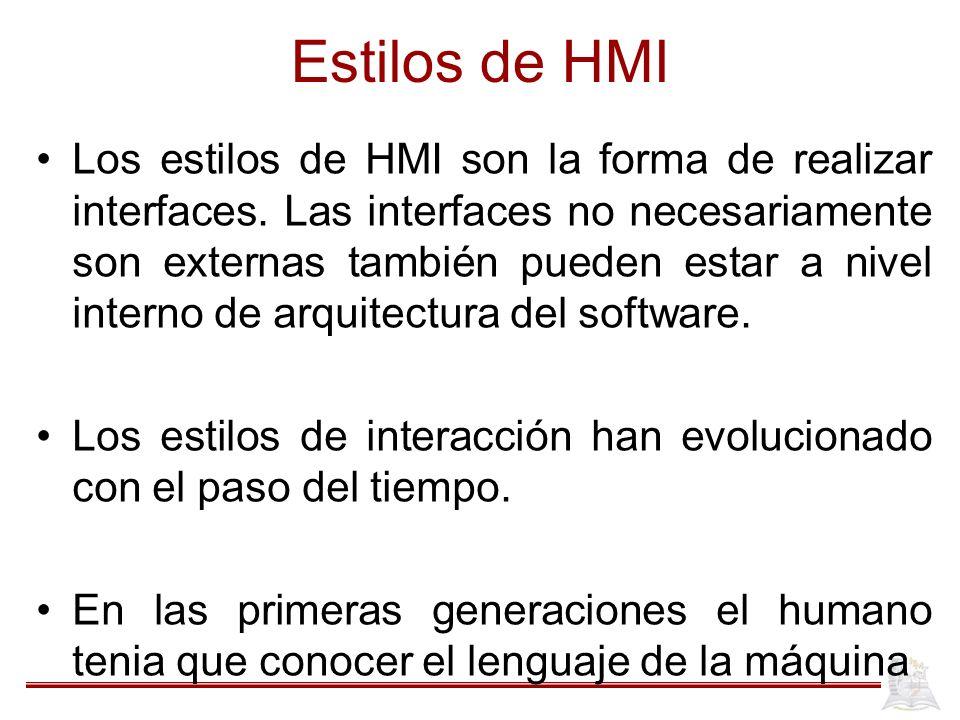 Estilos de HMI