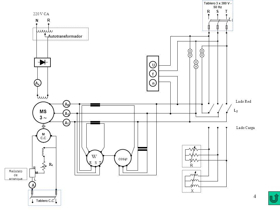 W L1 MS 3  cos R S T Lado Red Ae R N Autotransformador 220 V CA AR