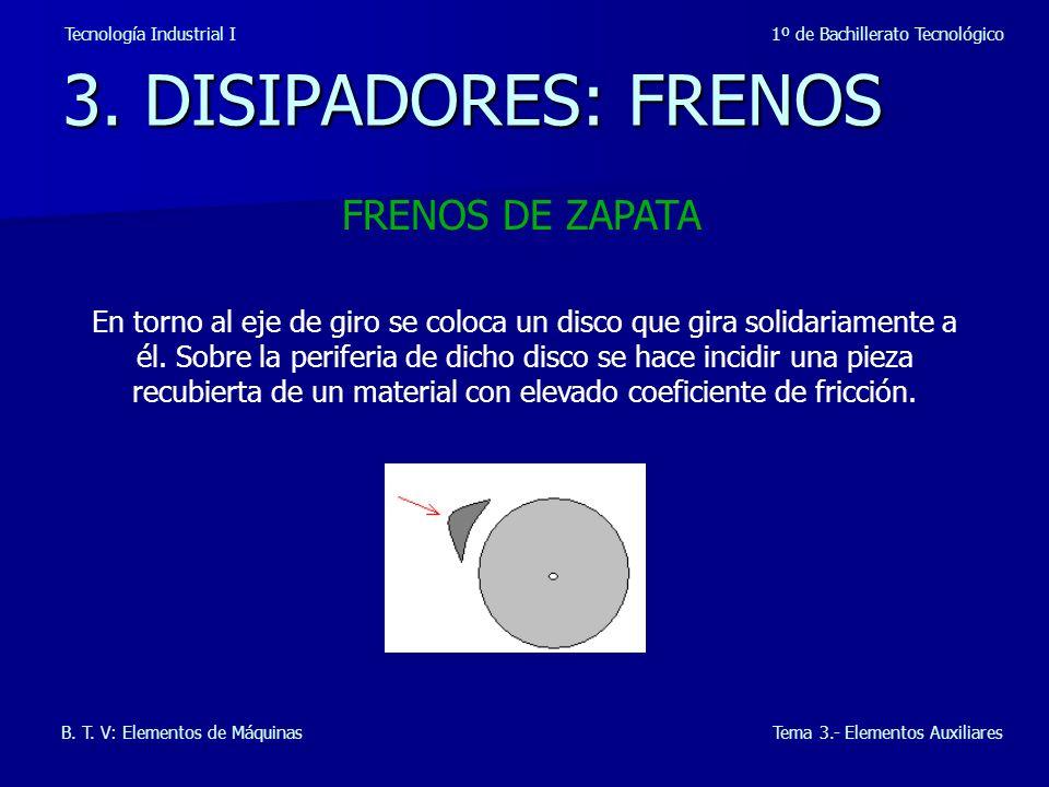3. DISIPADORES: FRENOS FRENOS DE ZAPATA