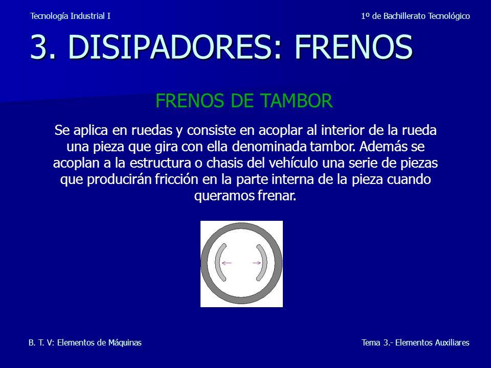 3. DISIPADORES: FRENOS FRENOS DE TAMBOR