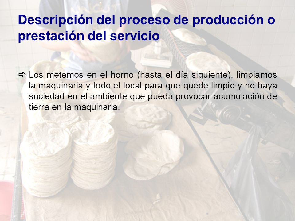 Caso integrador producci n ppt video online descargar for Descripcion del proceso de produccion