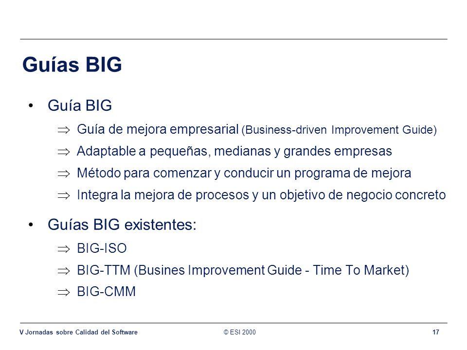 Guías BIG Guía BIG Guías BIG existentes: