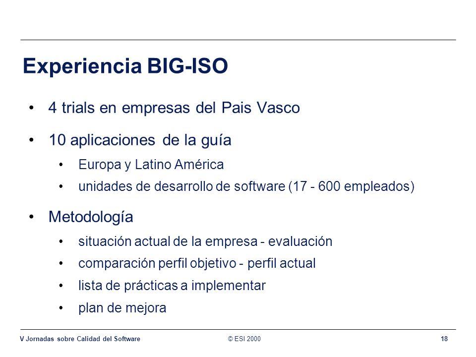 Experiencia BIG-ISO 4 trials en empresas del Pais Vasco