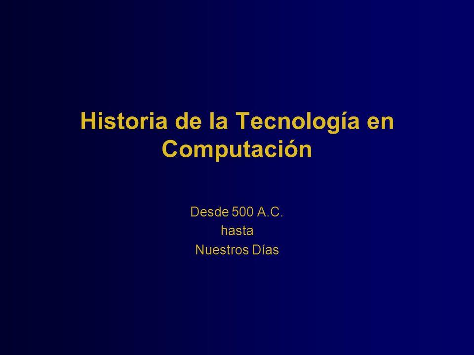 Historia de la Tecnología en Computación