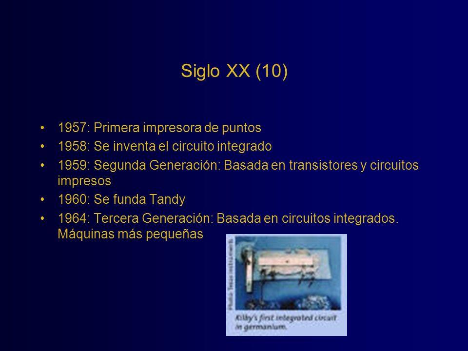 Siglo XX (10) 1957: Primera impresora de puntos