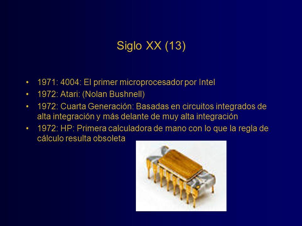Siglo XX (13) 1971: 4004: El primer microprocesador por Intel