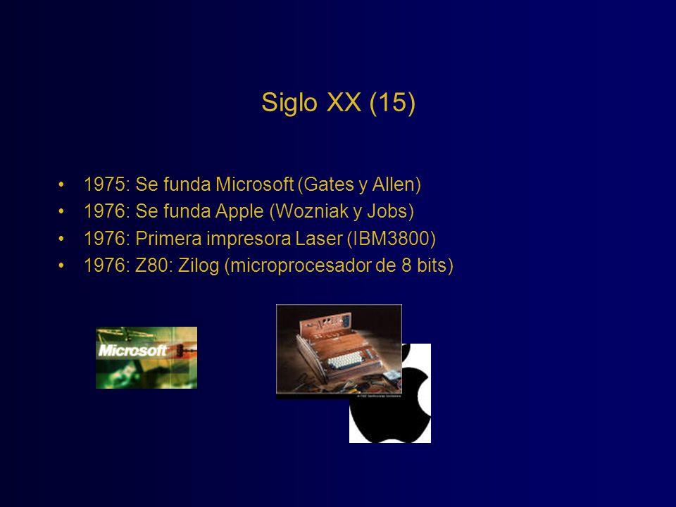 Siglo XX (15) 1975: Se funda Microsoft (Gates y Allen)