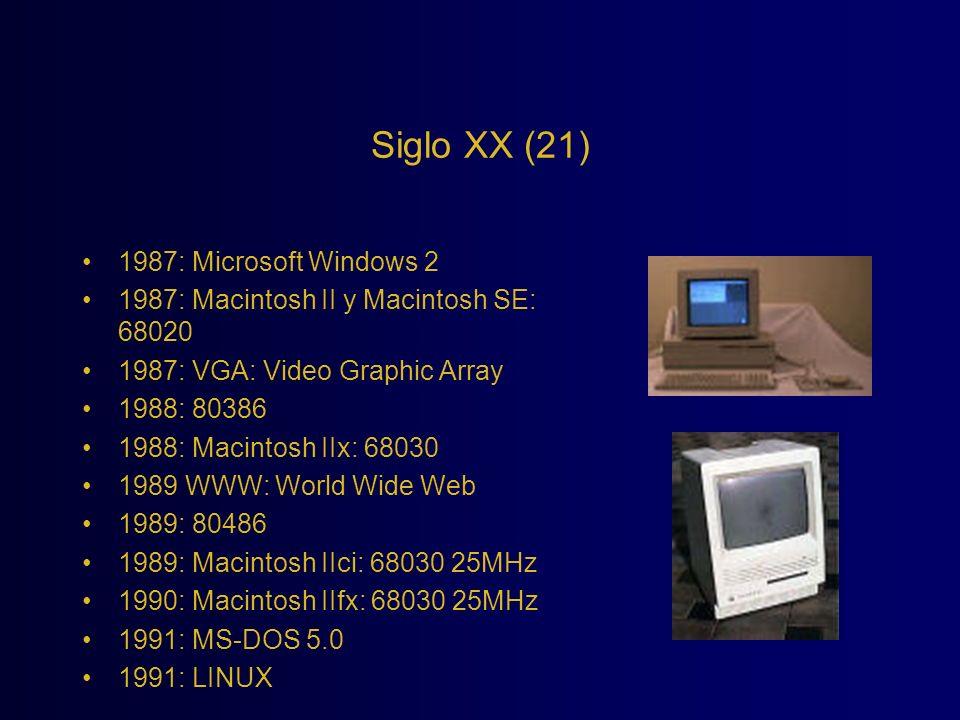 Siglo XX (21) 1987: Microsoft Windows 2