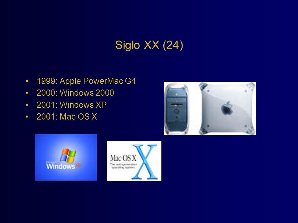 Siglo XX (24) 1999: Apple PowerMac G4 2000: Windows 2000