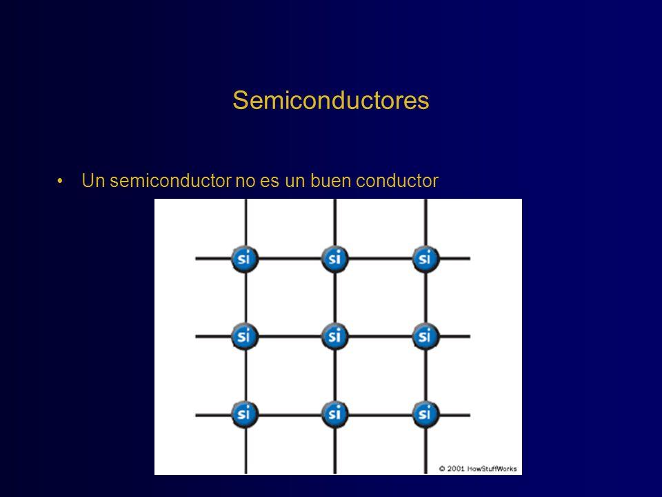 Semiconductores Un semiconductor no es un buen conductor