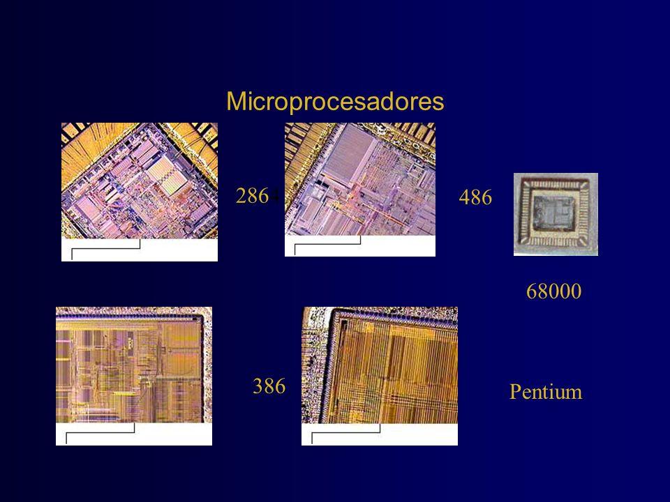 Microprocesadores 2864 486 68000 386 Pentium