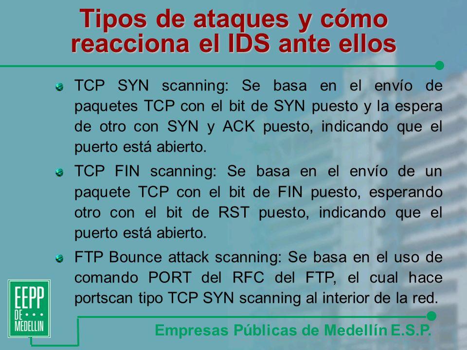 Tipos de ataques y cómo reacciona el IDS ante ellos