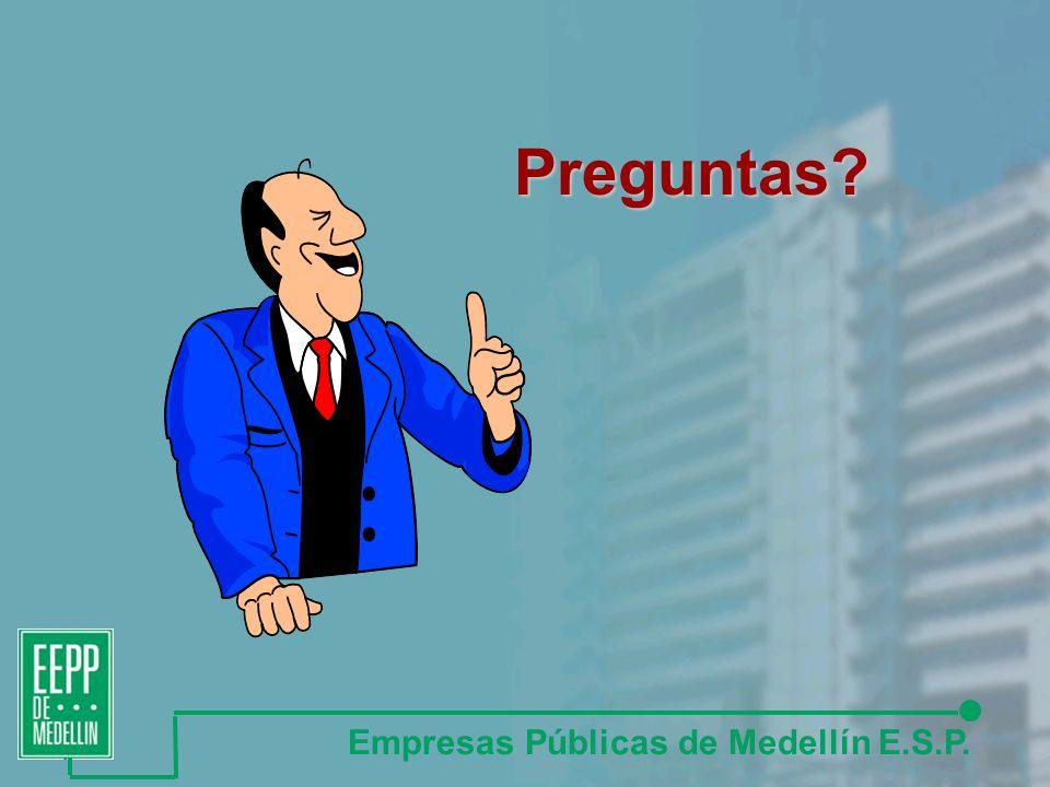 Preguntas Empresas Públicas de Medellín E.S.P.