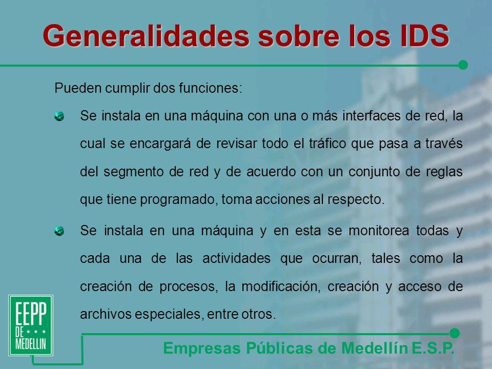 Generalidades sobre los IDS