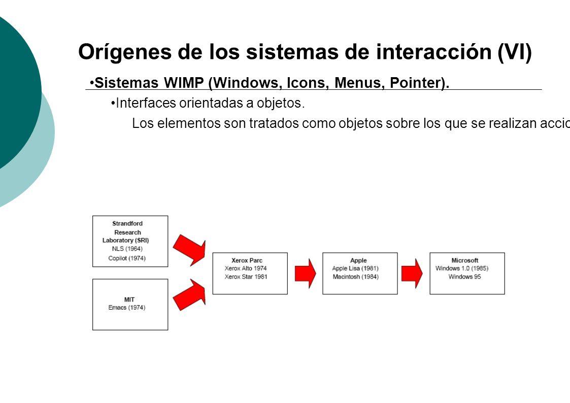 Orígenes de los sistemas de interacción (VI)