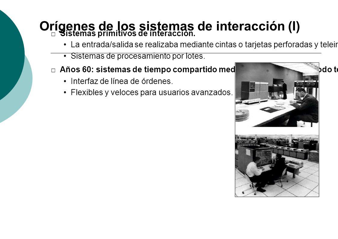 Orígenes de los sistemas de interacción (I)