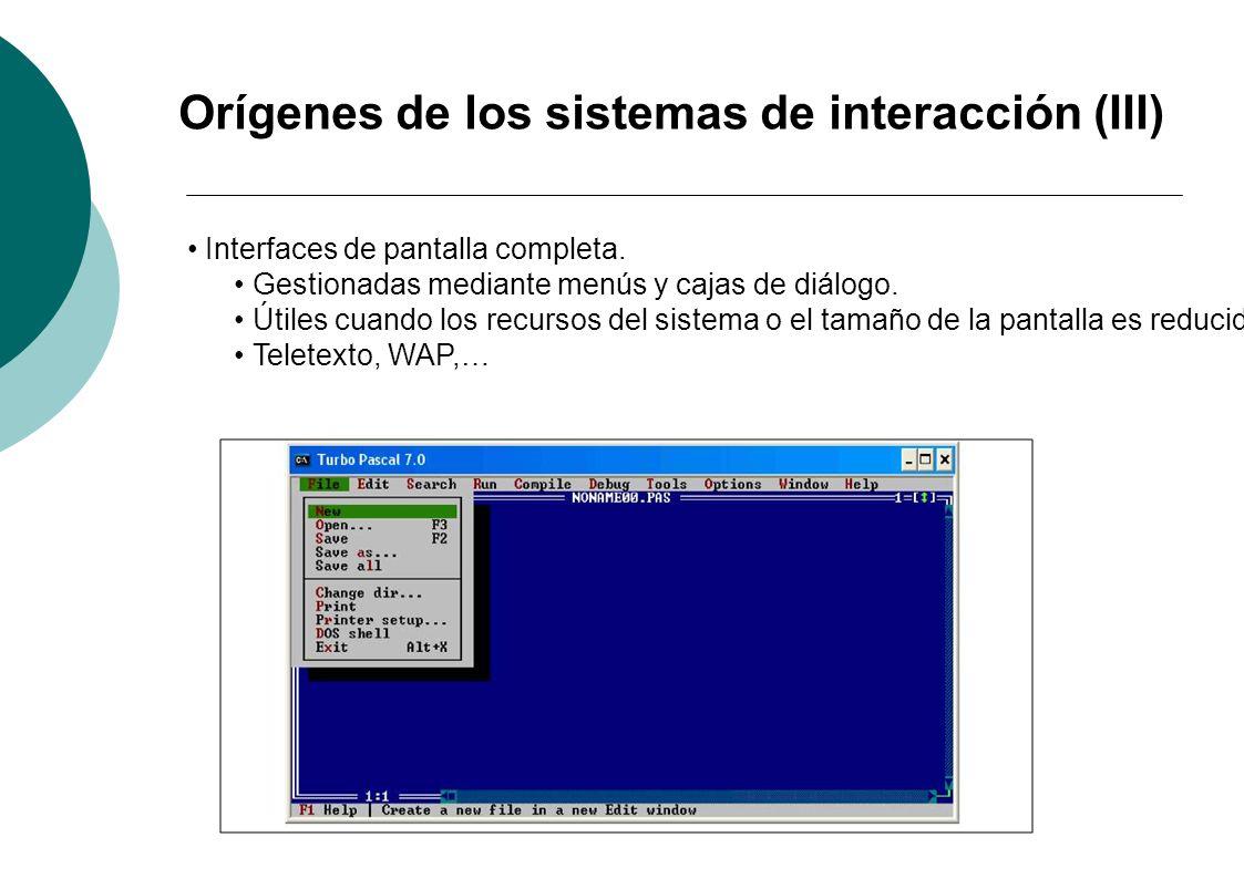 Orígenes de los sistemas de interacción (III)