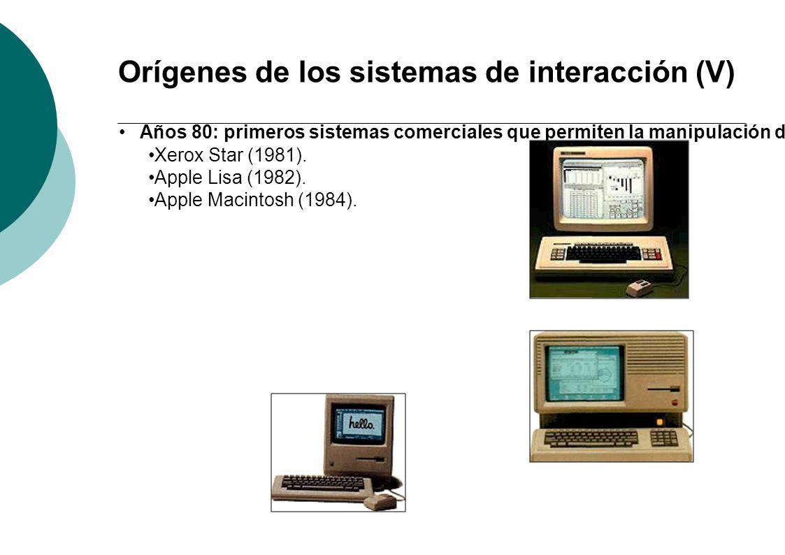 Orígenes de los sistemas de interacción (V)