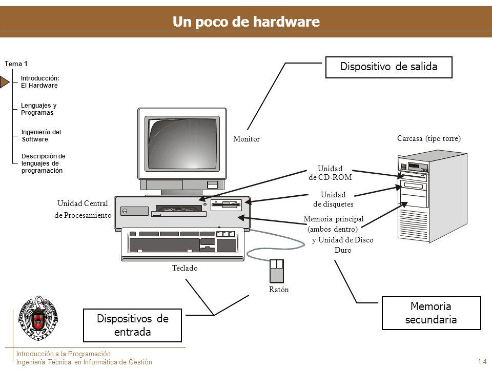 Un poco de hardware: el Modelo Von Neumann