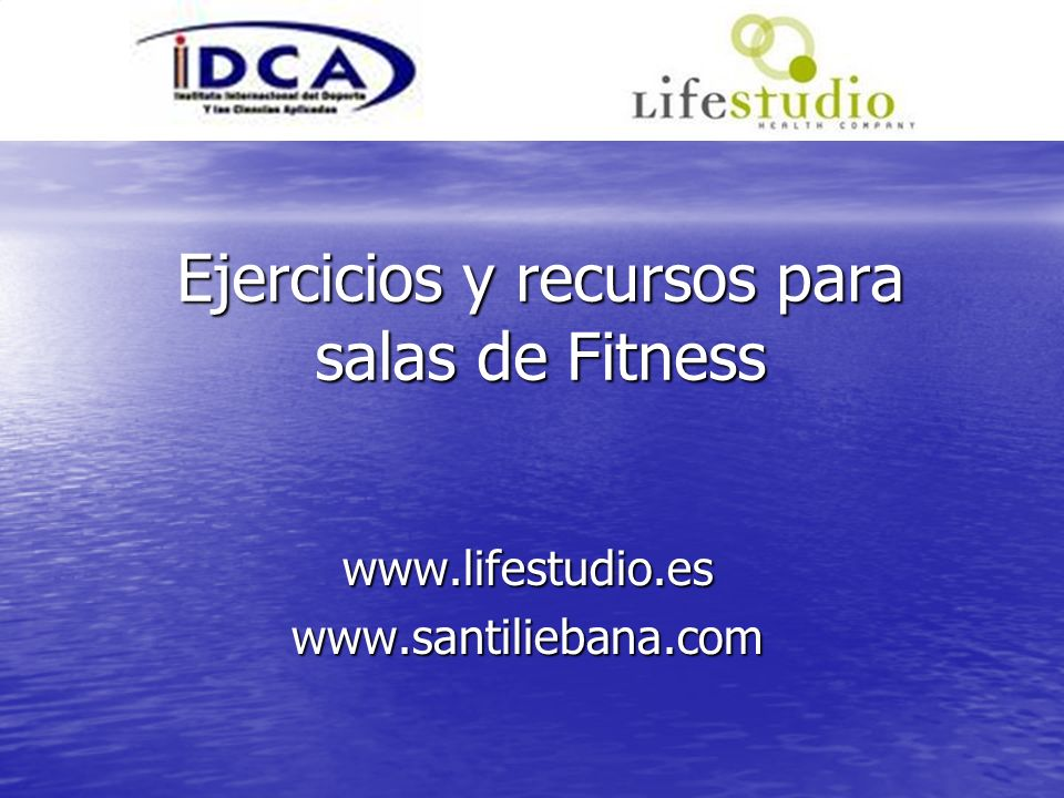 Ejercicios y recursos para salas de Fitness