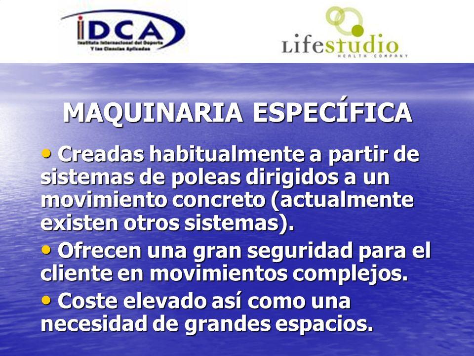 MAQUINARIA ESPECÍFICA